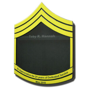 US Army E7 Retirement / Shadow Box Colored
