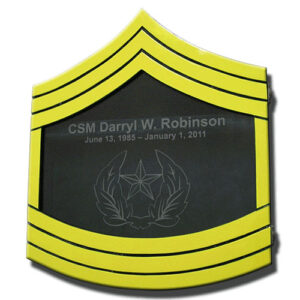 Army E-9 Retirement Shadow Box