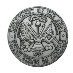 Army Seal Silver Plaque