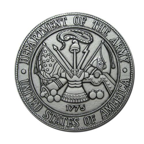 Army Seal Silver Plaque