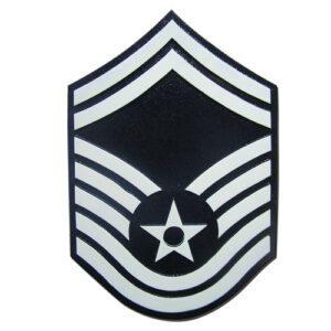 USAF E8 Rank Insignia Plaque