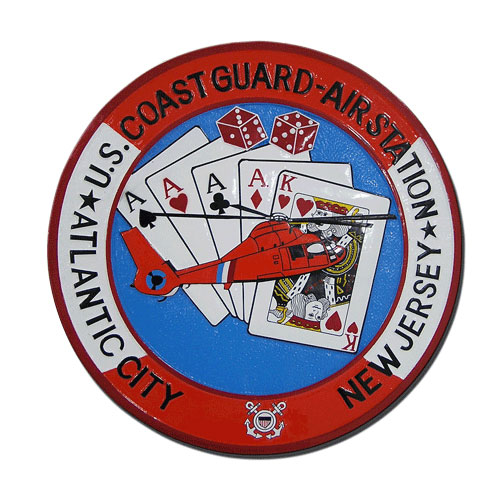 USCG Air Station Atlantic City Seal Plaque