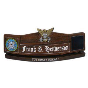 USCG Officer Insignia Desk Name Plate