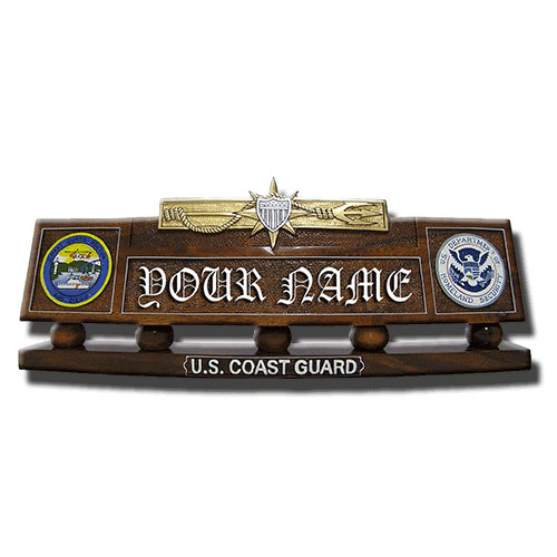 Marine Safety Desk Name Plate