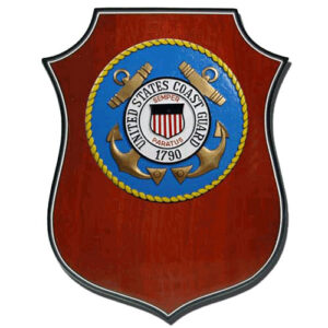 USCG Seal Shield Shaped Award Plaque