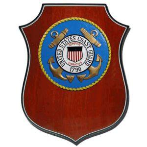 USCG Seal Shield Shaped Award Plaque