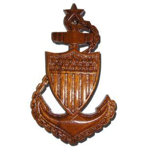 USCG SCPO E8 Anchor Plaque