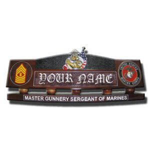USMC Bulldog Desk Nameplate