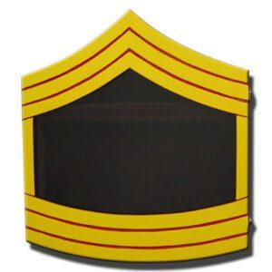 Marine Corps E-8 Retirement Shadow Box