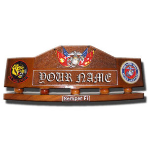 USMC ANCHOR WITH FLAGS DESK NAMEPLATE