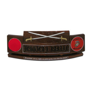 USMC Officers Sword Desk Name Plate