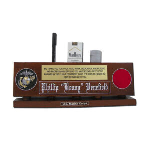 USMC Organizer Desk Name Plate