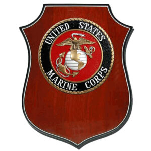 USMC Seal Shield Shaped Award Plaque