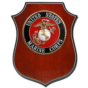 USMC Seal Shield Shaped Award Plaque
