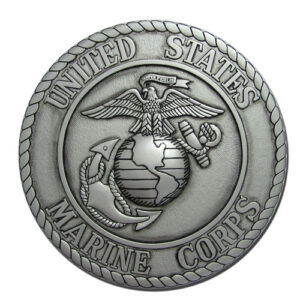 US Marines Corps USMC Seal Antique Silver
