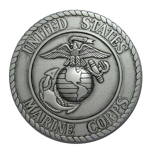Marine Corps Seal Silver Plaque