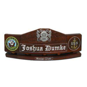 Master Diver Desk Name Plate