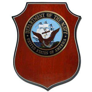 USN Seal Shield Shaped Award Plaque