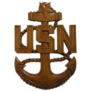 US Navy (USN) Wooden Anchor Plaque SCPO E8