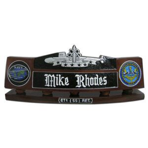Submarine Patrol Insignia Desk Name Plate