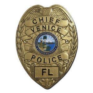 Venice Florida Police Chief Badge Plaque