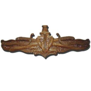 Navy Surface Warfare Officer Pin Wooden Plaque