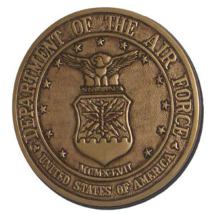 Air Force Seal Antique Gold