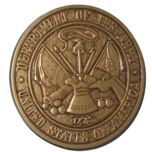 Army Antique Gold Seal Plaque