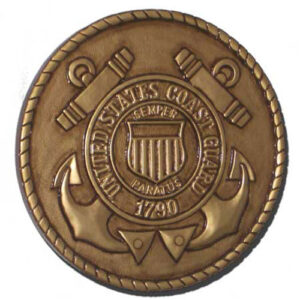 Coast Guard Seal Gold Plaque
