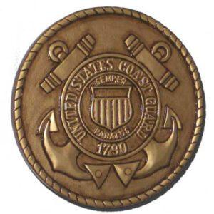 Coast Guard Seal Gold Plaque
