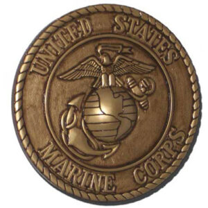 Marine Corps Seal Gold Plaque