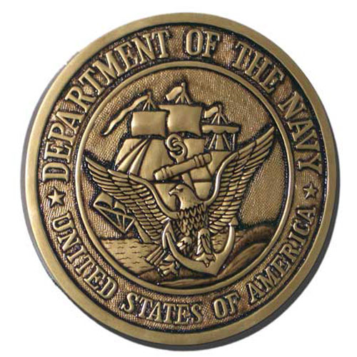 Navy Seal Antique Gold Plaque
