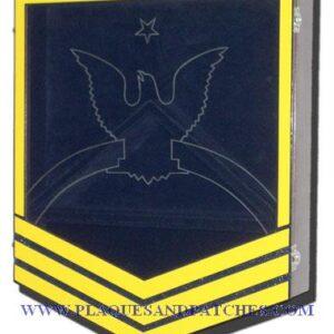 US Coast Guard E8 Retirement / Shadow Box Colored