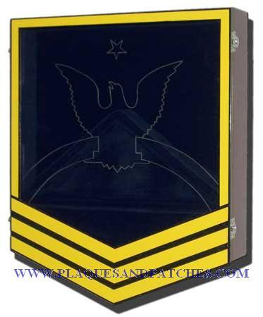 Navy E-8 Retirement Shadow Box