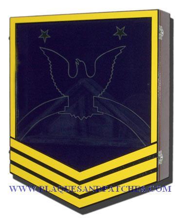 Navy E-9 Retirement Shadow Box