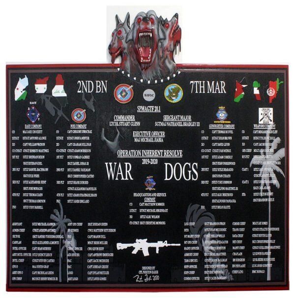 7TH MARINES Deployment Plaque 2020
